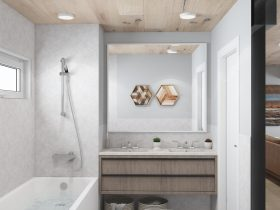 Bison Container Homes family home bathroom